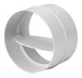 2121Р Соединитель для круглых каналов с обратным клапаном (125мм)