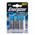 Батарейки алкалиновые LR06 Energizer Maximum (4шт)