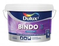 Краска водоэмульсионная BINDO 3 BW глубокомат. для стен и потолков, белая 5л