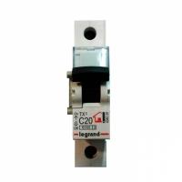 Выключатель автоматический модульный 1п С 20А ТХ 6кА Leg 404029