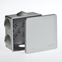 Коробка распределительная  СП 100/100/45мм с крышкой 10160
