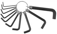 Набор Ключи имбусовые DEXX оксидированные, на кольце НЕХ 1,5-8мм, 10шт.