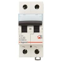Выключатель автоматический модульный 2п С 20А ТХ 6кА Leg 404043