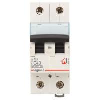 Выключатель автоматический модульный 2п С 40А ТХ 6кА Leg 404046