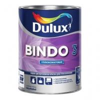 Краска водоэмульсионная BINDO 3 BW глубокоматовая для стен и потолков, белая 1л