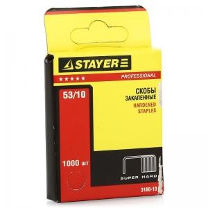 "Скобы для сшивания, 11,4*0,7*12мм (1000шт) STAYER""PROFI""тип53"