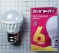 Лампа светодиодная 71 645 OLL G45 6Вт 230В 2.7K E27 Онлайт