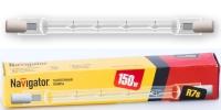Лампа галогеновая линейная J117 150W 220V  Navigator