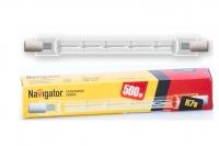 Лампа галогеновая линейная J117 500W 220V  Navigator
