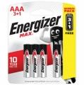 Батарейки алкалиновые LR03 Energizer MAX (4шт)