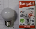 Лампа светодиодная 94 479 NLL-Р G45 5Вт 230V 4000К Е27 шар Navigator