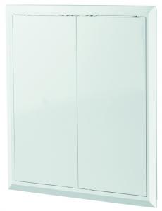 Дверца Д 400х400 белая, 2 створки