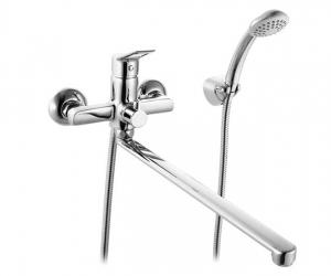 Смеситель для ванны Ukon с длин. изливом и кер. дивер. Milardo UKOSBLCM10