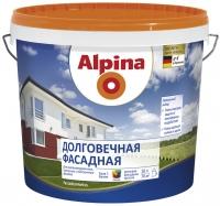 """Краска водоэмульсионная """"Alpina"""" Fassadenweiss Долговечная фасадная, 2,35л"""