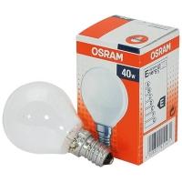 Лампа накаливания Е14 40W шар матовый Osram