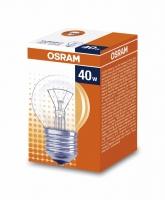 Лампа накаливания Е27 40W шар прозрачный Osram