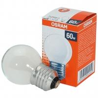 Лампа накаливания Е27 60W шар матовый Osram