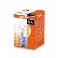 Лампа накаливания Е27 60W шар прозрачный Osram