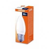 Лампа накаливания Е27 60W свеча матовая Osram