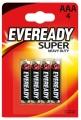 Батарейки солевые LR03 BL4 Eveready