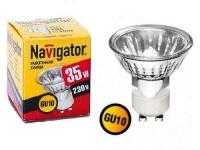 Лампа галогеновая GU10 35 W 220 V NAVIGATOR