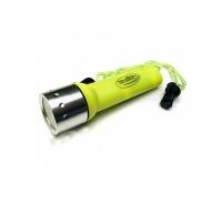 Фонарь для дайвинга LED CREE 3W погружение до 25м  КОСМОС