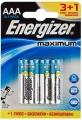 Батарейки алкалиновые LR03 Energizer Maximum (4шт)