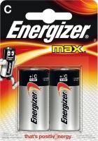 Батарейки алкалиновые LR14 Energizer MAX (2шт)