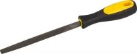 """Напильник STAYER """"ПРОФИ"""" трёхгранный, с двухкомпонентной рукояткой для заточки ножовок, 150мм"""