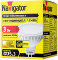 Лампа светодиодная 94 255 NLL MR16 3Вт 230V GU5.3 3000К Navigator