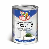 Эмаль OLECOLOR ПФ-115 зеленое яблоко 1.8кг