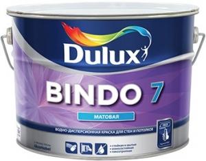 Краска водоэмульсионная BINDO 7 BW матовая для стен и потолков, белая 2,5л