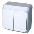 Выключатель 2-кл. ОП Этюд 10А IP44 белый