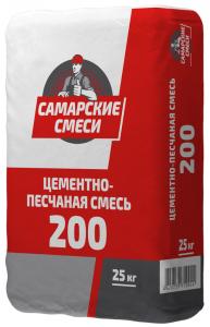 Монтажная цементно-песчаная смесь М-200  Самарские смеси 25кг
