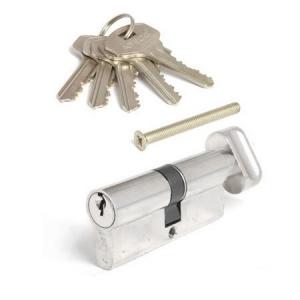 """Цилиндровый механизм """"Apecs"""" SC-70-С-NI никель (5 ключей)"""