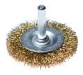 Щетка-крацовка со шпилькой для дрели, круглая 50мм (Hobbi)