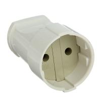 Штепсельное гнездо разборное Универсал 230В 10А без заземления, белый А115
