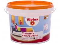 """Краска водоэмульсионная """"Alpina""""Premiumlatex 3  Стильная интерьерная, 10л"""