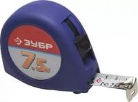 """Рулетка ЗУБР""""Стандарт"""", корпус с резиновым напылением, 7,5м*25мм"""